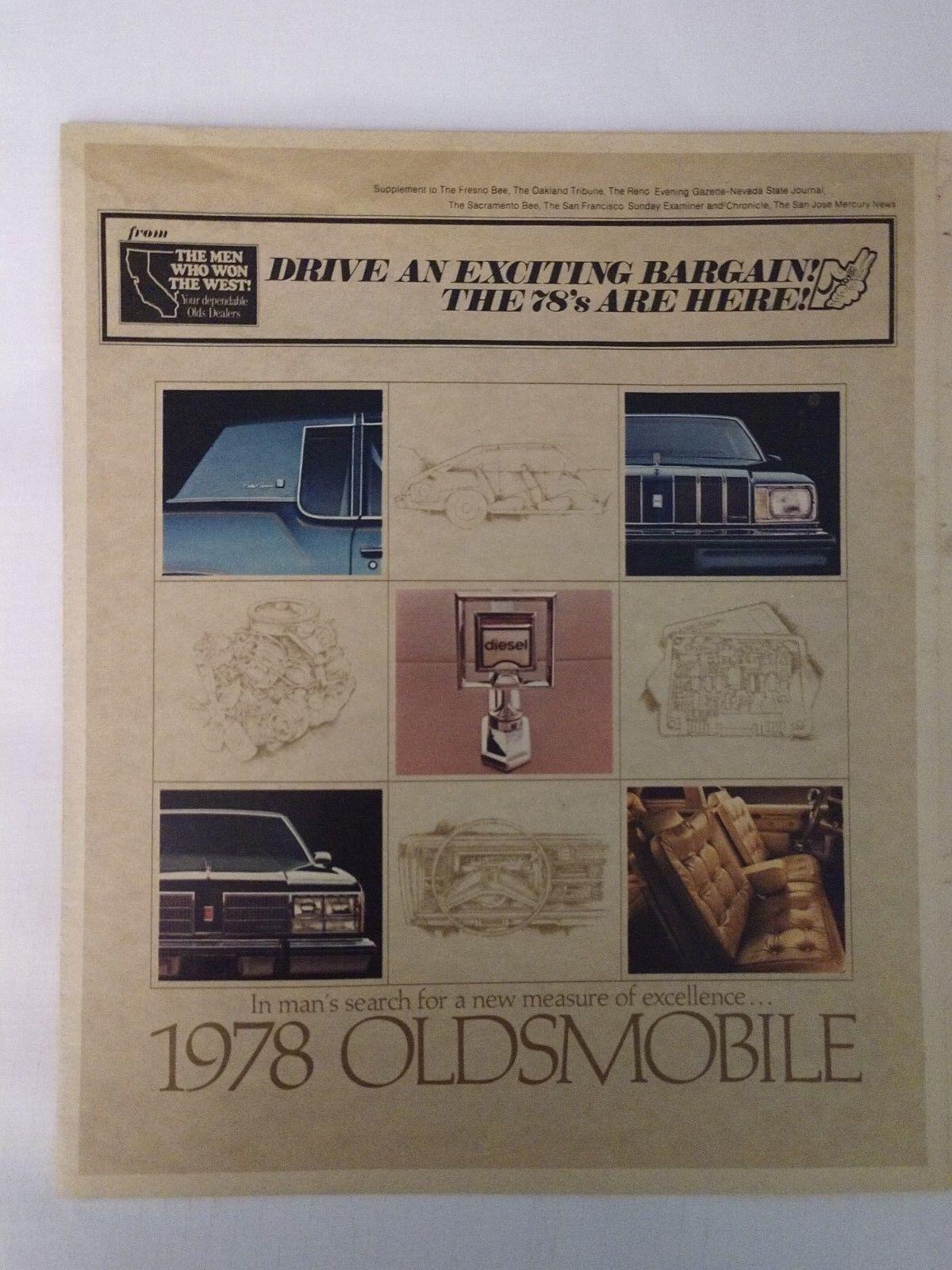 1978 Oldsmobile Ad Flier - Newspaper - (California)