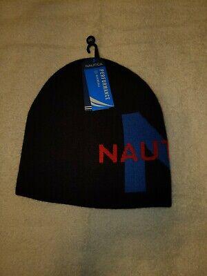 NWT MENS NAUTICA PERFORMANCE CAP / BEANIE~BLACK~OS MSRP $30.00