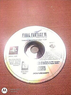 Sony PlayStation 1 PS1 PSOne Disc Only Final Fantasy VII Interactive Sampler CD
