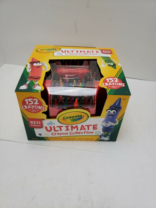 Crayola Ultimate Crayon Collection Coloring Set Gift Age 3+ - 152 Count Red Cadd