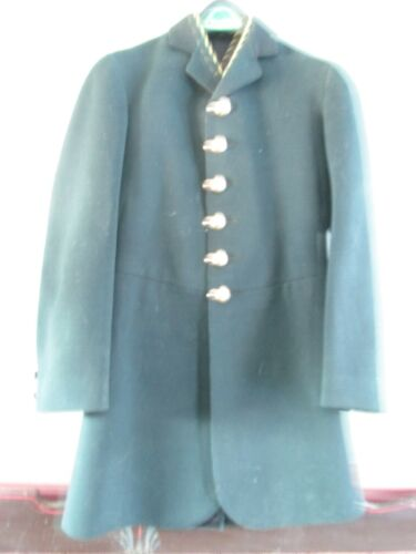 ANTIQUE Livery coat hand tailored, lined, dark green, heavy weight- size 32