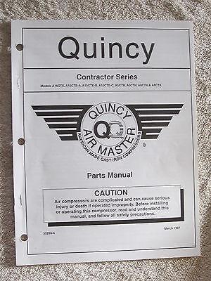 1997 Quincy Air Master Contractor Series Compressor Parts Manual 50265-4