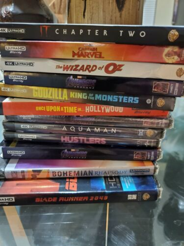 Lot of 12 4k dvds