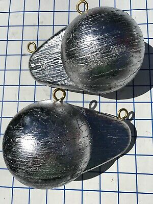 Uncoated Bullet Weights Ball with Fin Downrigger