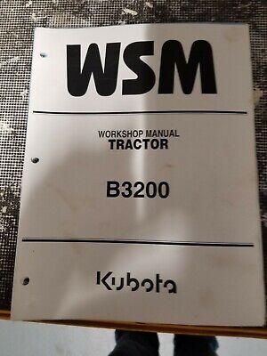 Kubota B3200 Service Manual Workshop Repair Manual