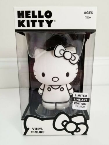 HELLO KITTY LINE ART LIMITED EDITION 222/500 VINYL FIGURE - NEW IN BOX