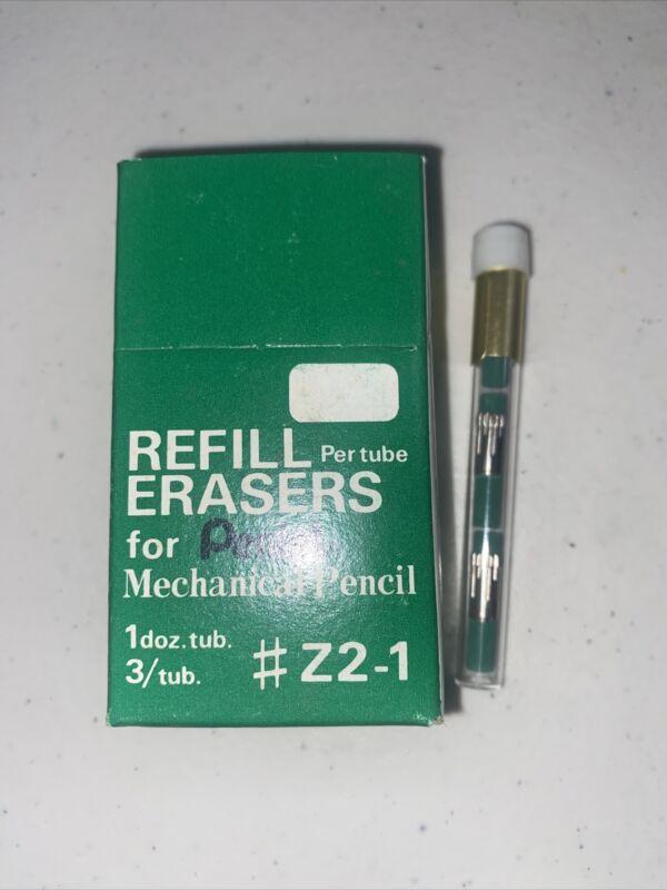 Vintage Pentel Refill Eraser Mechanical Pencil Z2-1 New Tube Green   R