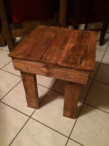 Palletwood side table