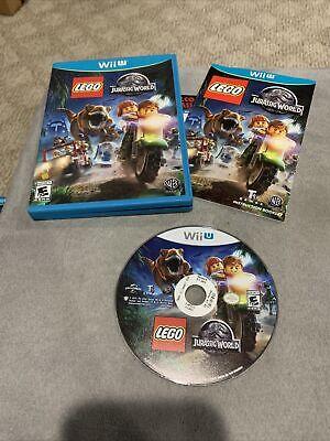 LEGO Jurassic World Nintendo Wii U 2015 WiiU Jurassic Park Video Game GREAT COND