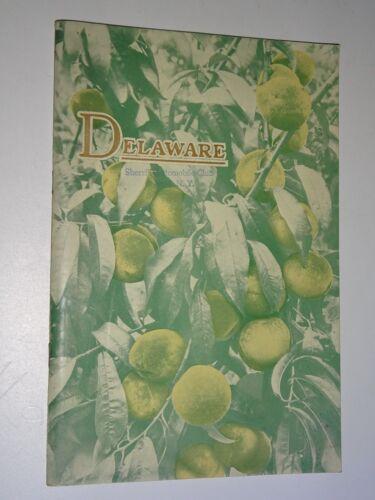 1932 Delaware State Agriculture Booklet Governor Douglas Buck