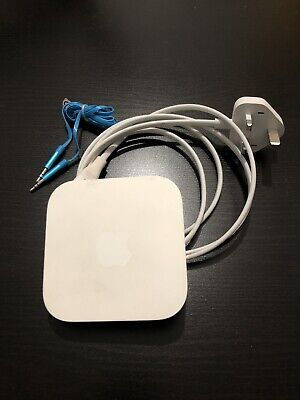 Apple AirPort Express with 3.5mm Aux Audio Cable Wireless Router Airplay 2 A1392