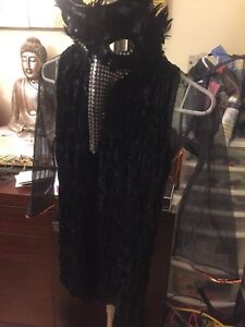 BLACK CROWS COSTUME FOR YOUNG  GIRLS