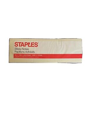 Sticky Notes 3x3 Yellow 1800 Total Sheets 18 Pads. Made In Usa