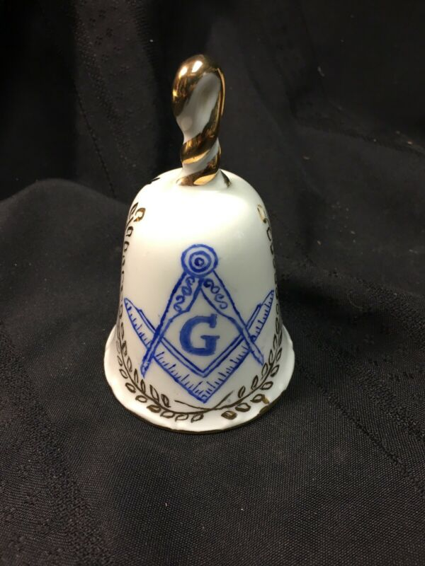 FREEMASON Ceramic Bell Lodge 451 Annual Ladies Night 1980 LODGE  Name RNB
