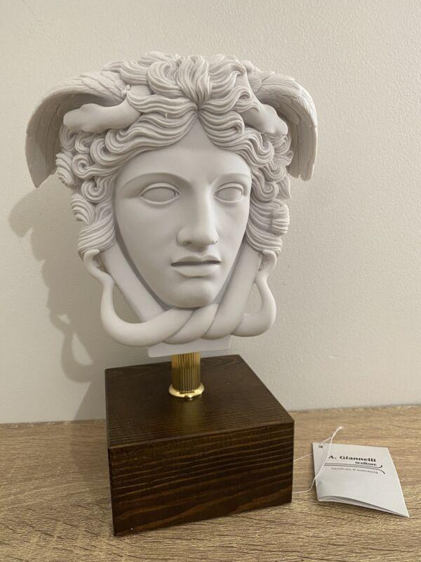 New Medusa Italian Handmade Bust Sculpture Versace Style Original SIGNED & COA