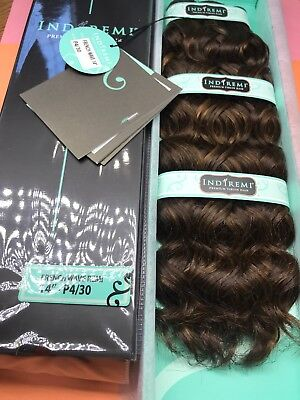 """IndiRemi® Virgin Remi Hair Weave_FRENCH_WAVE_WEAVING_14""""_#P4/30 Indi Remi French Wave"""