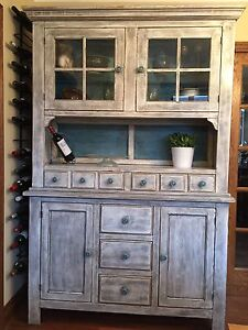 Antiqued Hutch Cabinet