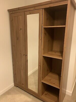 Used IKEA Aspelund Triple Wardrobe Oak - SW London