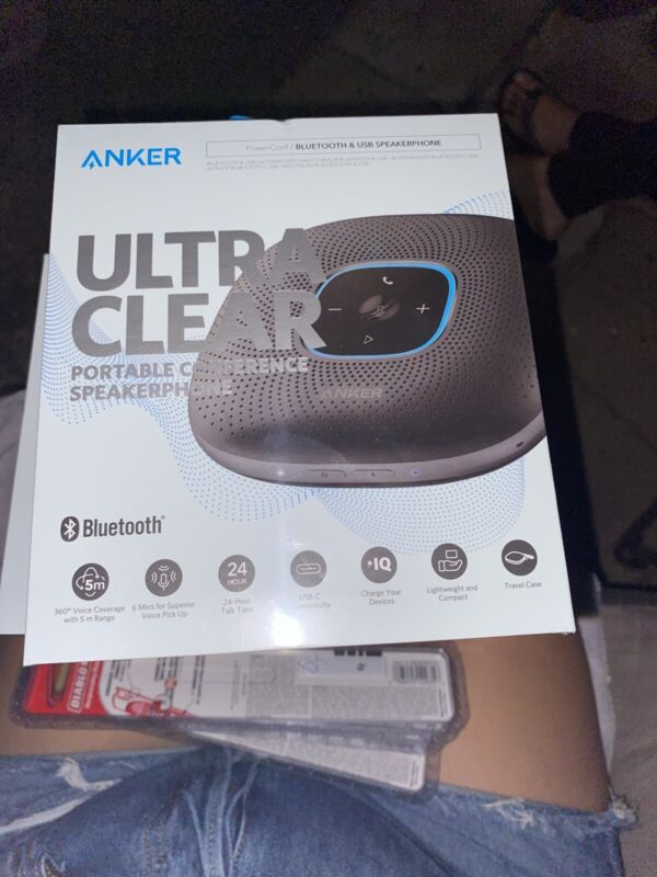 Anker Power Conference Bluetooth & USB Speakerphone A3301Z11 Black BRAND NEW