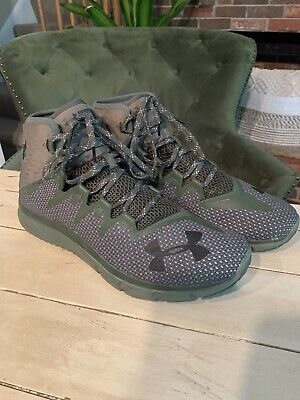 Under Armour Project Rock Delta Training Shoes 3020175-300 Green Men's Size 12.5