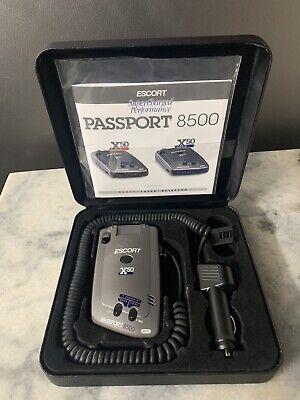 Escort Passport 8500 X50 Radar Laser Detector In Original Box W/ Manual WORKING