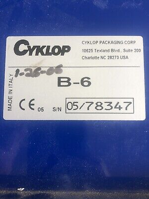 Cyklop B-6 Gummed Tape Dispenser Manual Water Activated Used