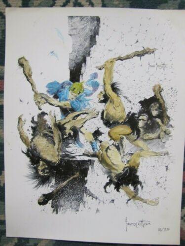 Frank Frazetta  Weird Science-Fantasy  # 29 hand painted art print  # 5/25