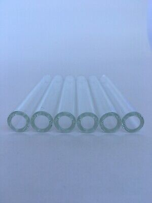 4 Inch Long 6 Piece Pyrex Glass Tubes 12mm Oi 8mm Id 2 Mm Thick Wall