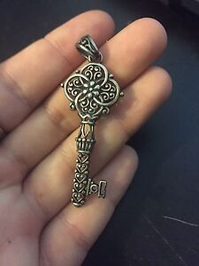 Sterling Silver Key Necklace Pendant