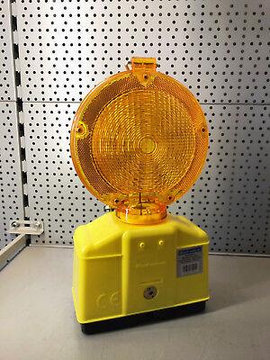 Baustellen LED Warnleuchte Absperrung Blinkleuchte Bauleuchte Lampe Leuchte