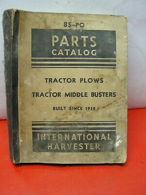 Tractor Plows Middle Busters Parts Catalog Manual 85-po 1939