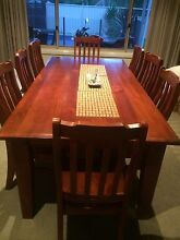 8 seater solid wood table Wadalba Wyong Area Preview