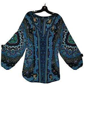 Lane Bryant Plus size 18/20 *BOHO* blouse, beautiful colors *EUC* Lane Bryant Plus Size