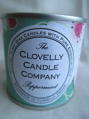 Clovelly Soap Co Natural Handmade Peppermint Scented Paint Tin Candle NEW (Scented Paint)