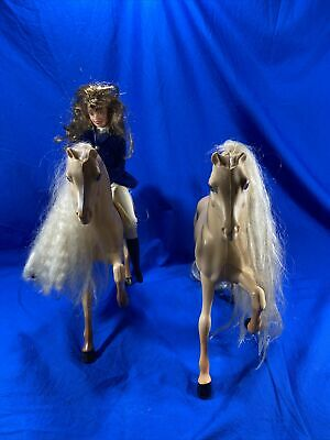 Horse Riding Barbie Doll with poseable body - 1997 And 2 Barbie Horses