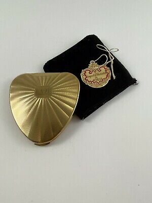 Cherie Art Deco Powder Compact by Kigu London Unused with Pouch & Original Tag