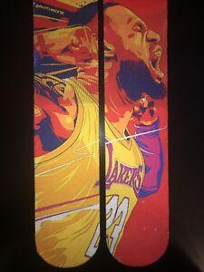 lebron james Los Angeles Lakers Nba Custom Sublimated Dry Fit Socks
