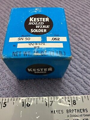 Kester Solid Wire Solder Sn50 Qq-s-571