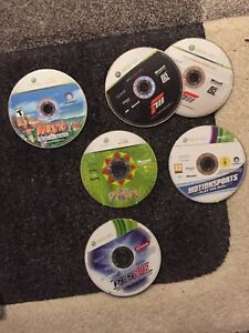 5 Xbox 360 discs and Forza Motorsport with download disc!!