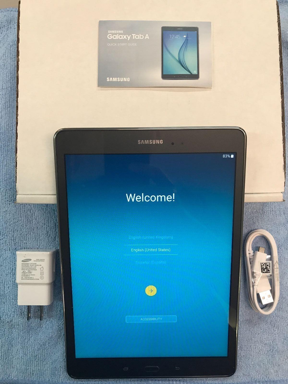 Tablet - Samsung Galaxy Tab A SM-T550 16GB, Wi-Fi, 9.7in - Smoky Titanium