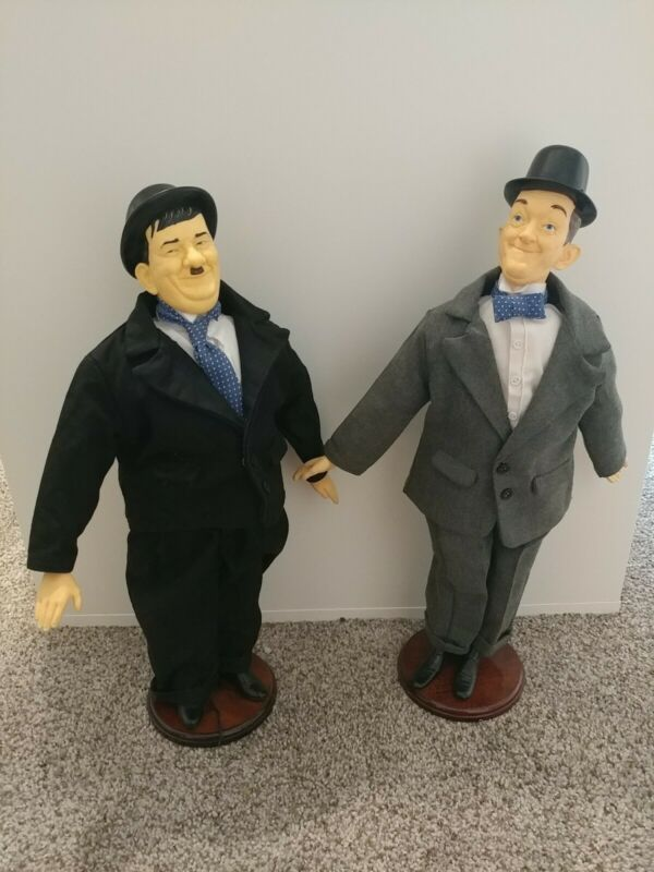 Vintage Laurel & Hardy Dolls 1991 Life Like 17 Inches Tall