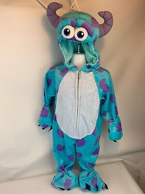 Monster Inc Costumes (Disney Monsters Inc Sulley Plush Costume Baby 6-9 Mo)