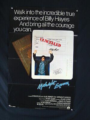 MIDNIGHT EXPRESS-1978-ONE SHEET--BRAD DAVIS, IRENE MIRACLE-BO HO FN/VF - $56.00