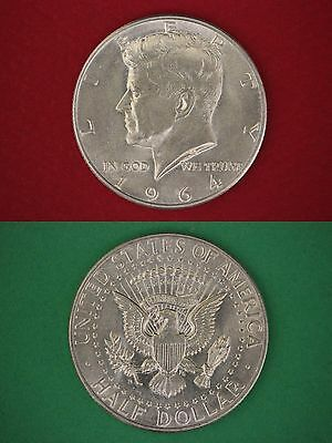 MAKE OFFER $1.00 Face Value 90% Silver 1964 John Kennedy Half Dollars Junk Coins