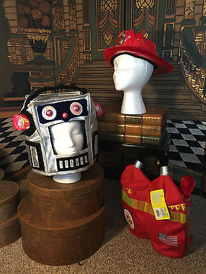 Fireman, Astronaut or Robot 2 Hats & Backpack from Elope Dress up Costume (Kid From Up Costume)
