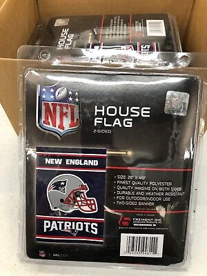 """NFL England Patriots Double Sided 28"""" x 40"""" Porch / House Flag pole not included"""