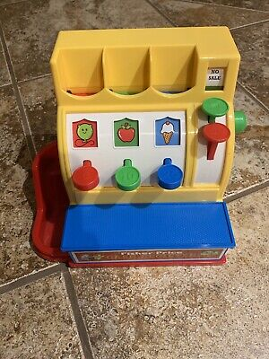 Fisher Price 2015 Cash Register W/ 6 Coins Play Pretend Fun 100% Complete