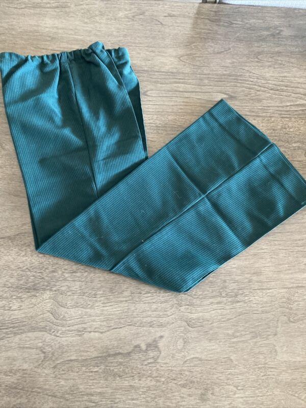 Vintage JUNIOR GIRL SCOUT LONG BELL BOTTOM PANTS 100% Polyester 1973