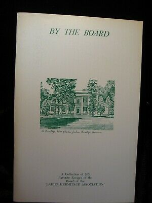 "Vintage Cookbook ""By The Board"" Hermitage Tennessee Cookbook 1973"