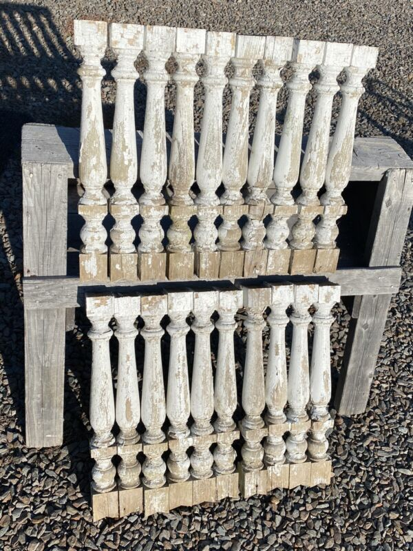 "20 Antique Wood Balusters ~ 20""H Victorian Gingerbread Porch Accent, Turned Wood"